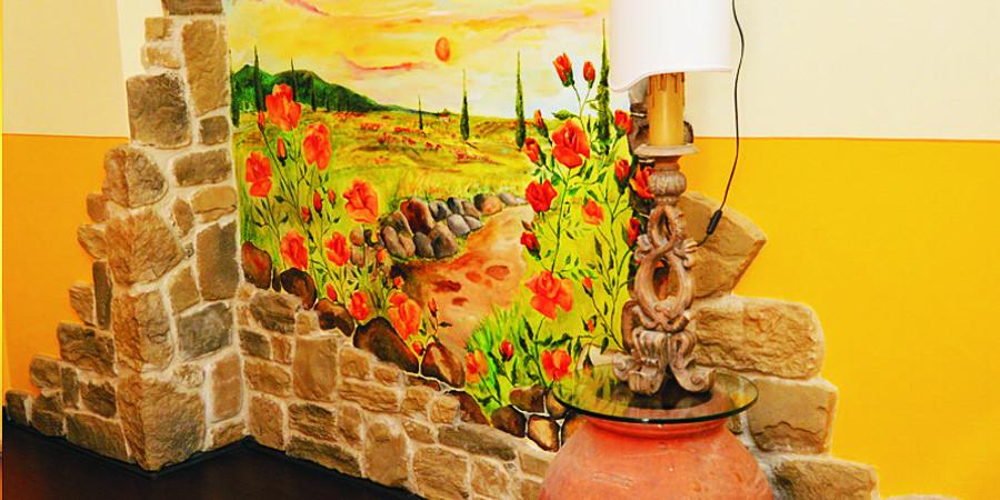 Agriturismo Campo Fiorito - Camera Rosa - Decorazione dettaglio - Agriturismo Campo Fiorito - Via Dei Rocchi 190, 51015 - Monsummano Terme (PT) - Toscana - Italia